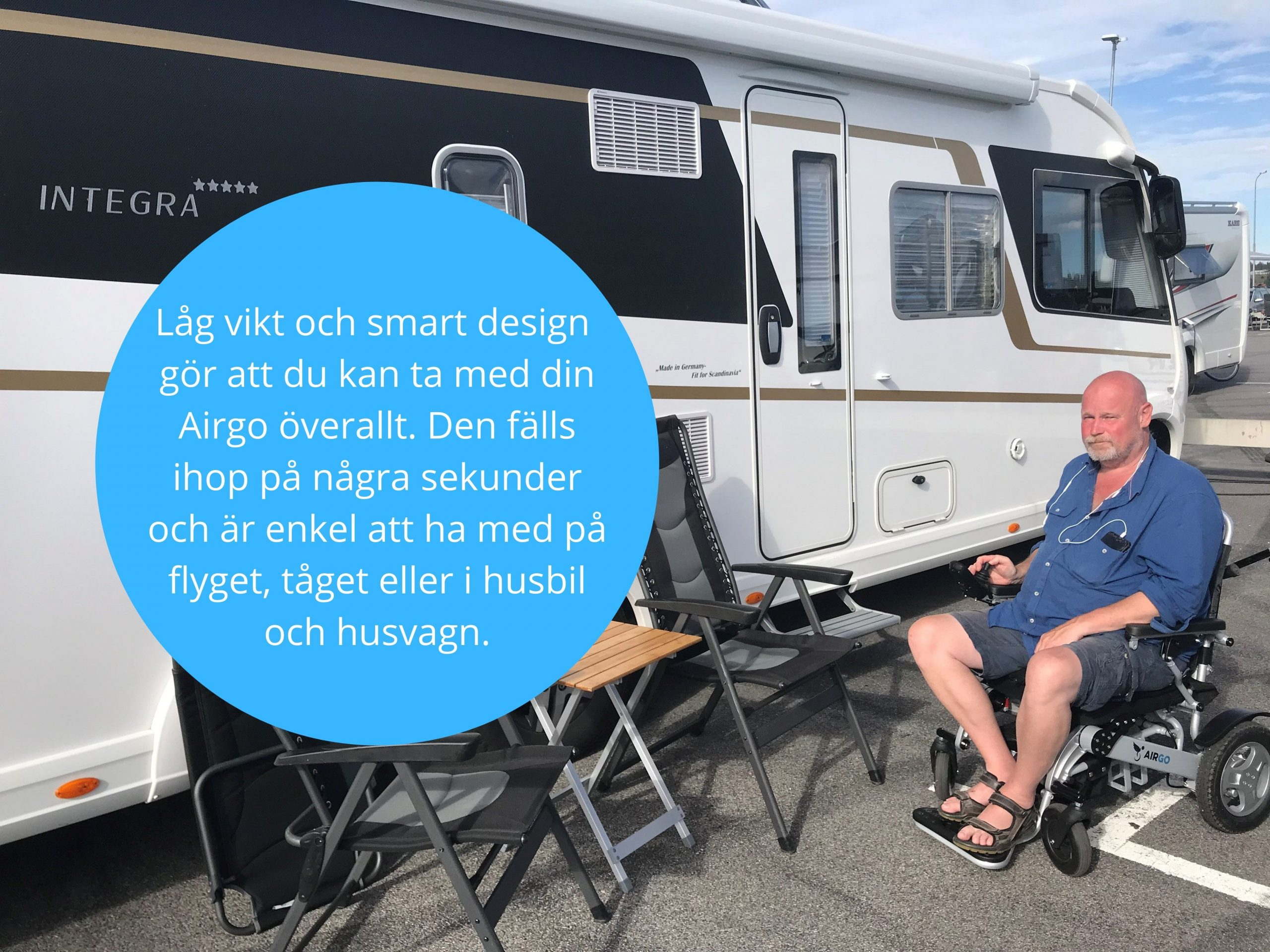 Airgo S2 i husbilen